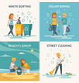 garbage collection flat concept vector image