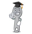graduation spoon character cartoon style vector image vector image