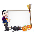 halloween dracula sign vector image vector image