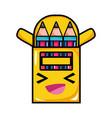 happy and cute colored pencil kawaii vector image