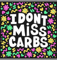 harmful carbs healthy lifestyle nutrition problem vector image vector image