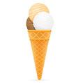 ice cream with cone 07 vector image