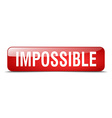 impossible red square 3d realistic isolated web vector image vector image