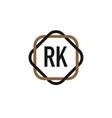 initial letter rk elegance logo design template vector image vector image