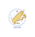 label for products containing mustard allergen vector image vector image