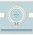 Lacy round frame and borders Vintage vector image vector image