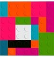 Lego block seamless pattern vector image vector image