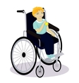 little boy with disabilities in a wheelchair have vector image