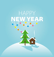 logo winter landscape for the new year vector image