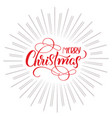 merry christmas text and abstract background with vector image