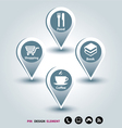 Modern Design template mapping pins icon vector image