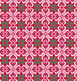 nordic seamless pattern on red vector image vector image