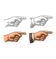 pointing finger hand sign for web poster info vector image vector image