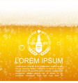 realistic lager beer closeup background vector image vector image