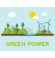 Renewable energy like hydro solar geothermal and vector image