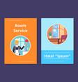 room service in hotel informative internet page vector image vector image