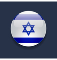 Round icon with flag of Israel vector image