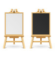 school black and white blank boards on easel vector image vector image