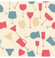 Seamless background pattern of black alcoholic vector image vector image