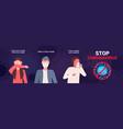 set basic protective measures against coronavirus vector image