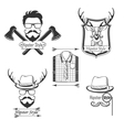 set hipster style logosbadges labels and vector image