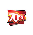 seventy percent vector image vector image