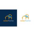 solar home logo icon vector image