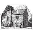 somersetshire fishermans cottage vintage vector image vector image