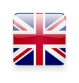 square icon with flag uk vector image vector image