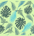 tropical trendy seamless pattern with exotic vector image