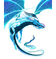 white dragon flying vector image vector image