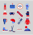 winter sport clothing or skating and skiing vector image vector image