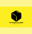 yellow black game 3d gaming cube business logo vector image vector image