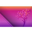 Yellow Purple Tree and dot background vector image vector image