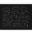 Hand-drawn chalk scribble design elements vector image