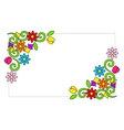 Frame with colorful flowers vector image