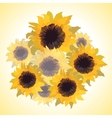 bouquet with sunflowers vector image
