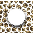 new year background with golden balls vector image