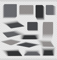 transparent paper and objects box square shadows vector image