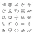 25 outline universal analytics research icons vector image vector image