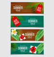 abstract summer sale card set vector image