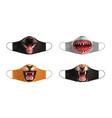 animal masks set vector image vector image