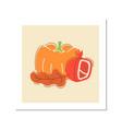 autumn bounty social media post mockup vector image