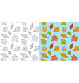 autumn maple leaf pattern fall leaves seamless vector image vector image