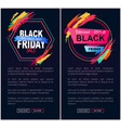black friday big sale web on vector image