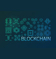 blockchain cryptocurrency colored linear vector image vector image
