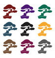 bonsai icon in black style isolated on white vector image vector image