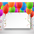Celebrate colorful background with balloons vector image