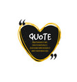 chat bubble logo quote vector image vector image
