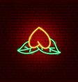 chinese fortune cookie neon sign vector image vector image